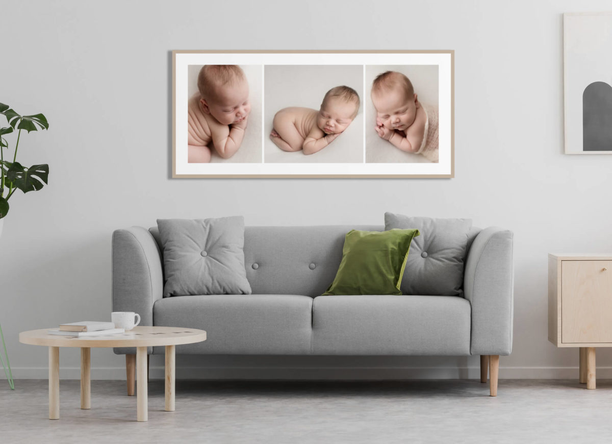 display newborn photography on your wall